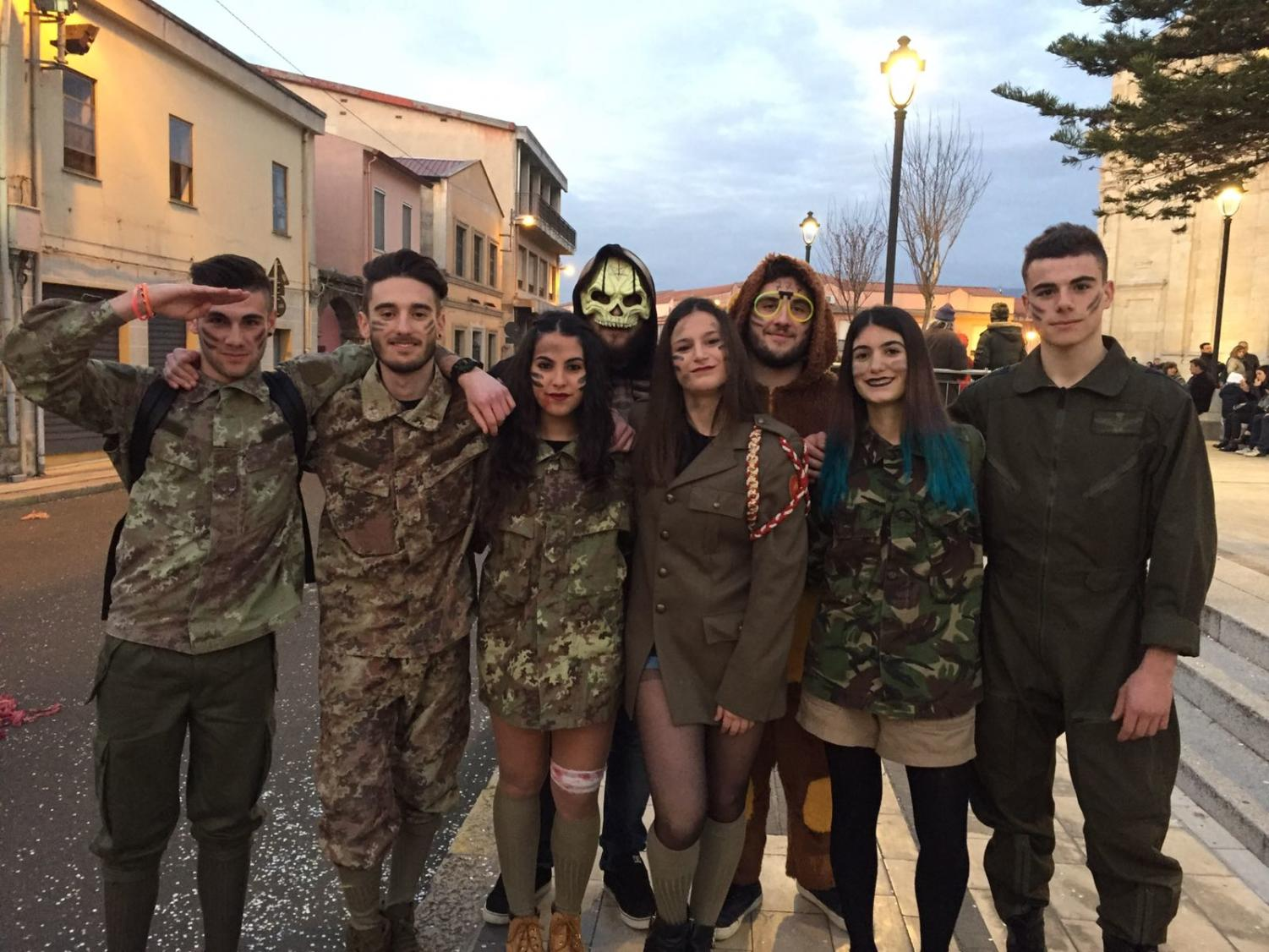 Italian exchange student Valentina Frau hangs out with her friends in her city of Terralba during Carnival, an Italian festival similar to Mardi Gras.