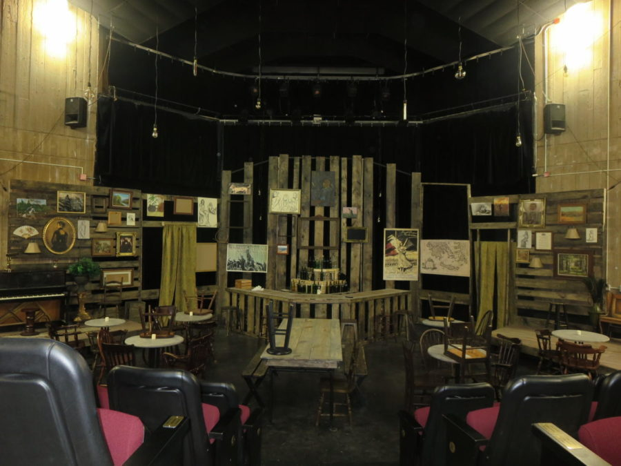 The set of the new play.