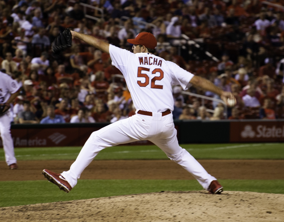 Michael Wacha pitches in a game last season. The Cardinals expect Wacha to be a number 2 or 3 starter this season.