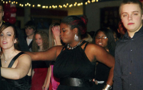 Senior Taylor Ingram shows off her dance moves at the 2009 winter dance. This year's dance has been canceled due to lack of interest.