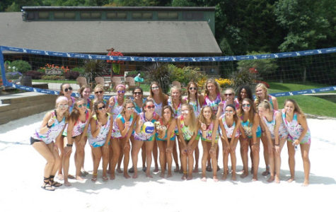 Juniors from Parkway South gather for a picture at this past summer's Young Life camp in North Carolina. About 60 South students attended the camp.