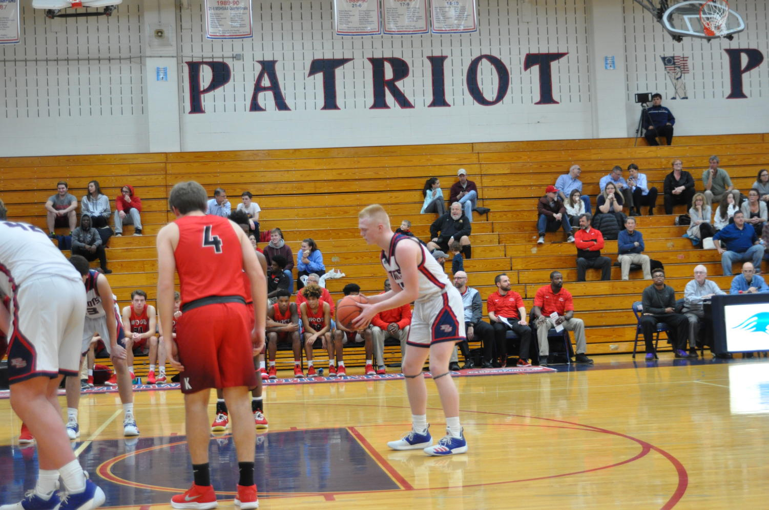 Junior Guard Adam Sommer knocks down free throws. Sommer recently set the South record for most points scored in a game and tied the record for most three-pointers.