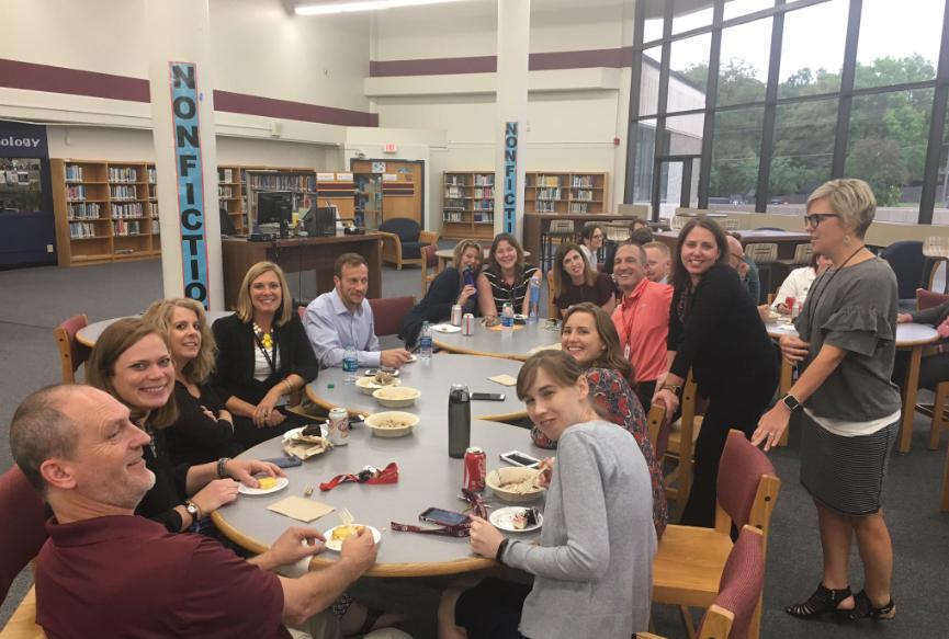 Members+of+Souths+math+department+take+a+dinner+break+during+first+semester+Parent%2FTeacher+Conferences%2C+Oct.+4.+