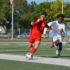 Kicking grass
