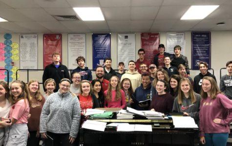 Members of one of Mr. Scott's choir classes