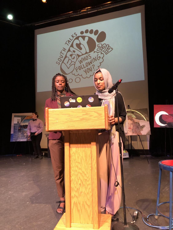 Jonica Dandridge and Naba Yasir help lead a session during last year's SouthTalks.