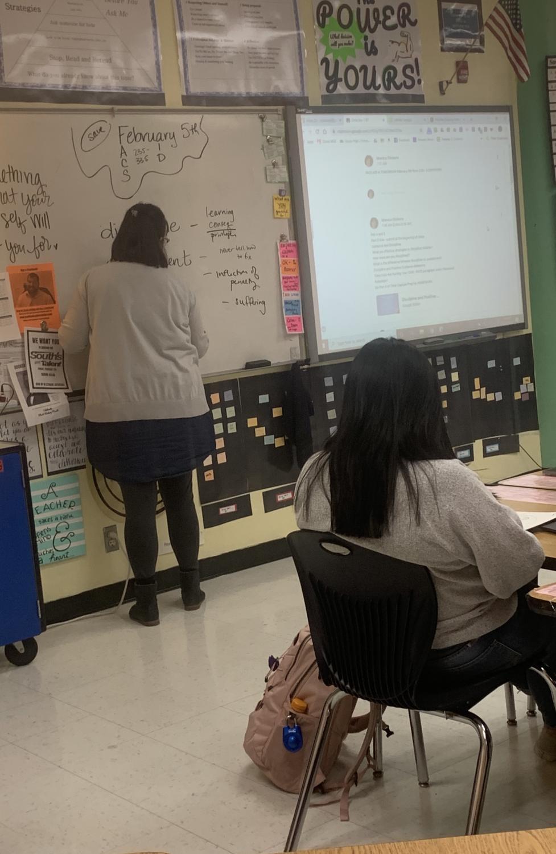 FACS teacher Monica Dickens teaches her Child Development class.
