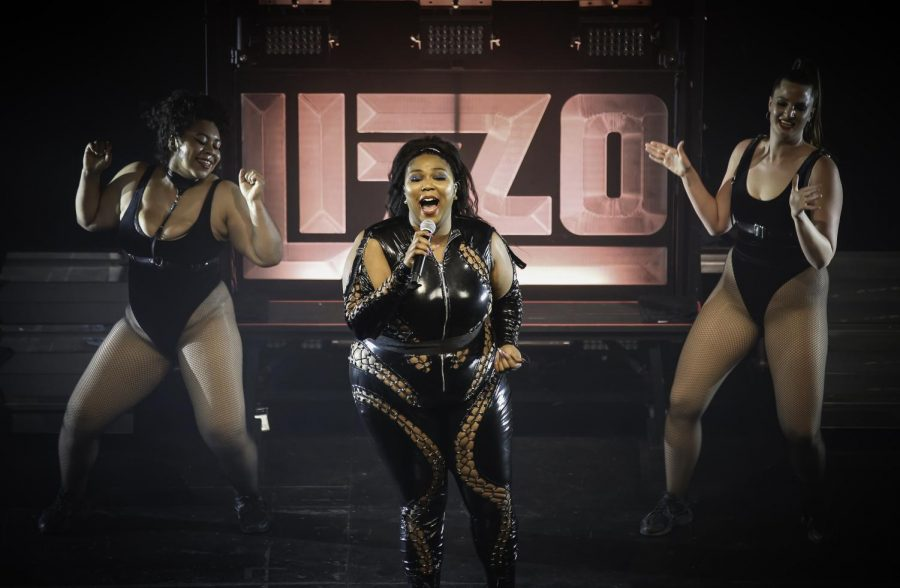 Lizzo+performs+at+the+Palace+Theater+in+St.+Paul%2C+Minnesota+in+2018.+