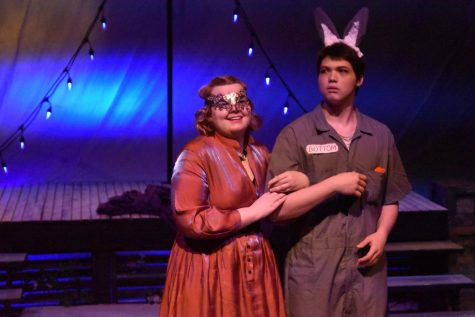 Senior Casey McKenna acts on stage during the production of A Midsummer Night