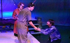 Seniors Casey McKenna and Devon Polk, and sophomore Lukas Martello perform in the play, A Midsummer Night's Dream.