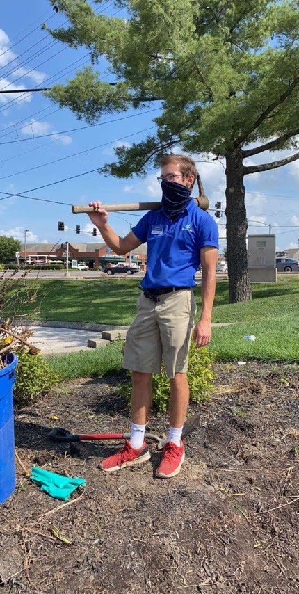 Senior Carson Fairchild kept himself busy this summer with his landscaping job.
