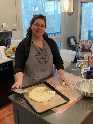 South High parent Ellen Ewing bakes her famous chocolate scones for her online bakery.